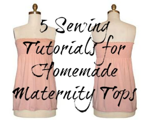 how to make your own maternity clothes for first trimester pregnancy. #sewing #diy #pregnancy