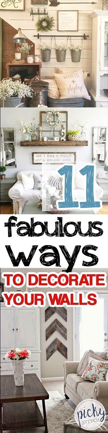 11 Fabulous Ways to Decorate Your Walls -