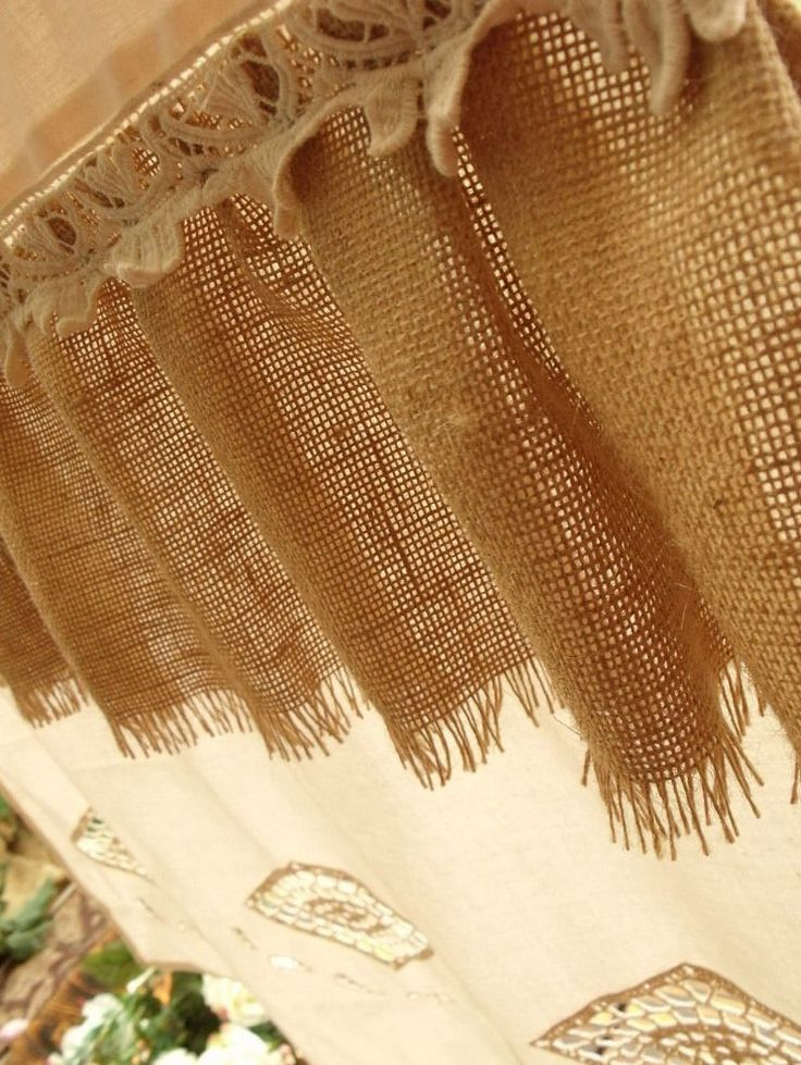 shabby chic burlap curtains