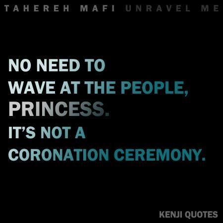 shatter me quotes | Kenji in Shatter Me | Favorite YA Book Quotes | Pinterest