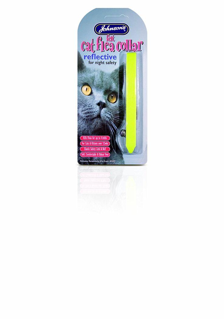 Johnsons Felt Cat Flea Collar Reflective ** For more information, visit image link.