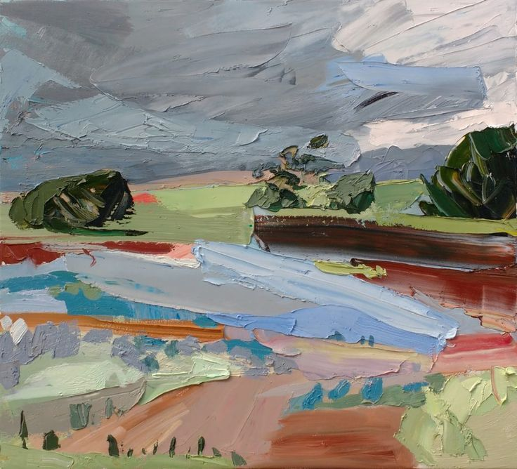 Contemporary abstract landscapes by south australian