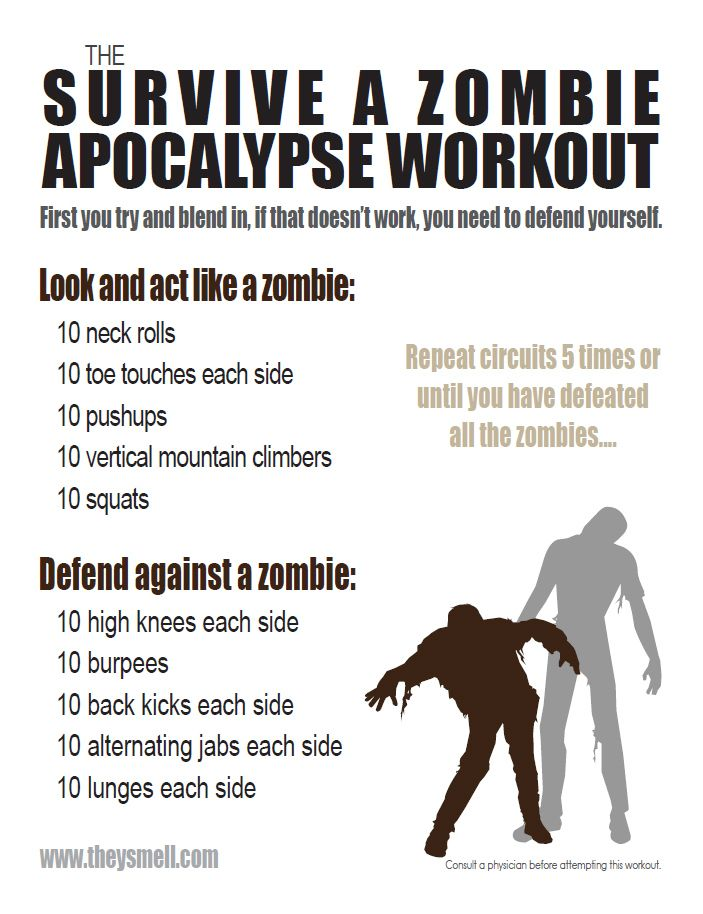 Zombie Apocalypse Workout (The Walking Dead workout)