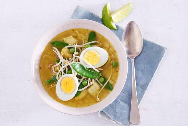Typisch Indonesische soep met heel veel extra's - Recept - Allerhande