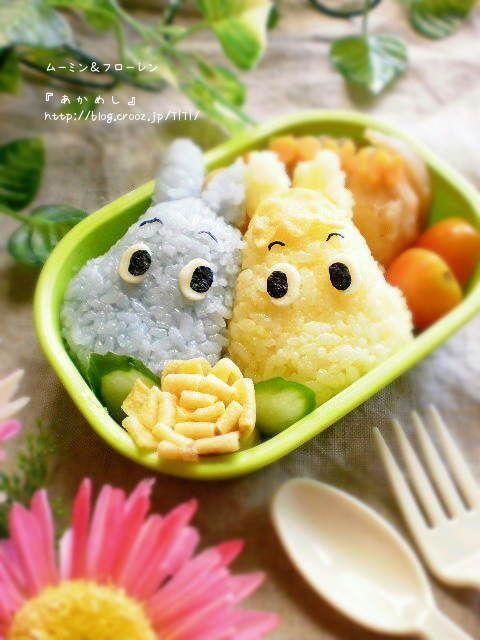 Moomin and Snork Maiden bento