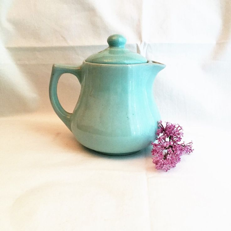 A personal favorite from my Etsy shop https://www.etsy.com/ca/listing/398251575/vintage-teal-pottery-teapotvintage