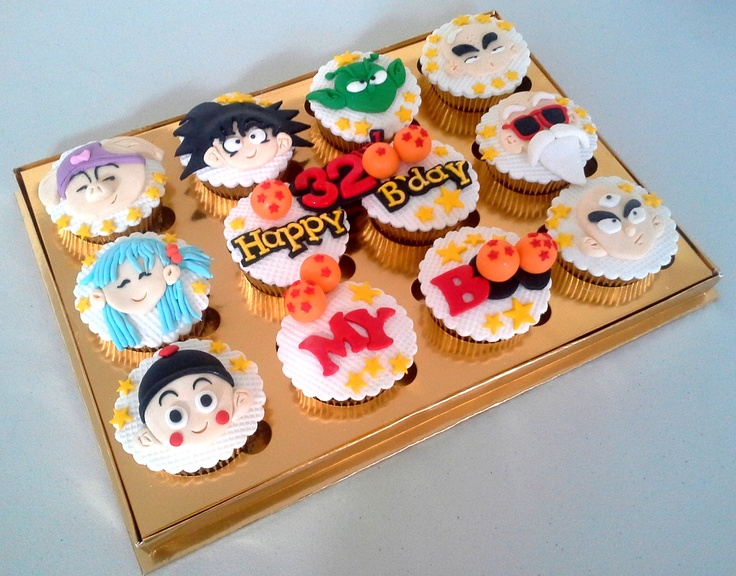 Dragon Balls cupcake | Dragon ball Party | Pinterest