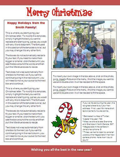 Christmas Template For Word Christmas Family Newsletter Template  The Holidays Are Here .