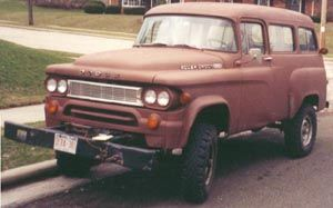 Brown 1966 W100 Town Wagon, with Winch