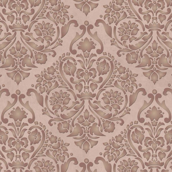 Elegant Damask Wall Stencils for Painting Wallpaper Looks
