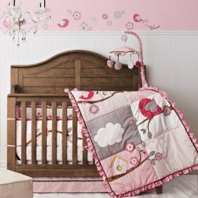 baby 39 s first ensemble de literie 6 pi ces pour lit de b b little birdie garland sears. Black Bedroom Furniture Sets. Home Design Ideas
