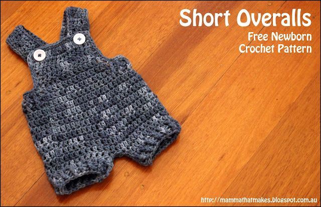 Mamma That Makes: Short Overalls for Newborns