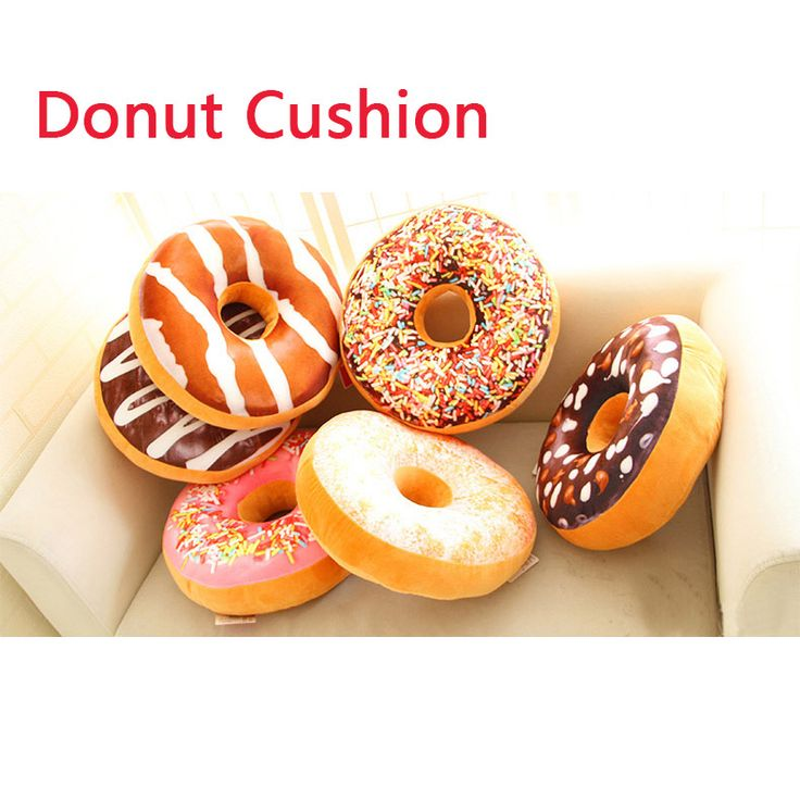 Donut cushion pillow Home Furnishing round biscuits candy Home Furnishing Christmas decoration decorative pillow bag