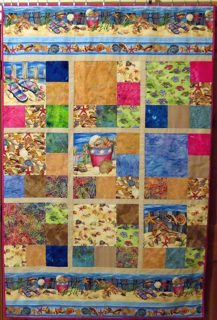 Quilting Patterns Beach Theme : 1000+ images about Ocean Themed Quilts on Pinterest Beach Quilt, Fish Quilt and Quilt