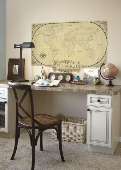 Maps! Painted furniture! Wicker!