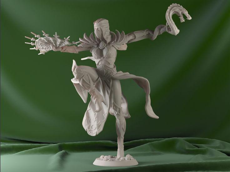 «Конкурс «Выйди из тени!»  набор грозового дракона, вариант в динамичной позе, выбрал женский персонаж