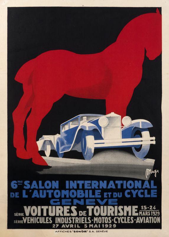 Marcello Nizzoli Poster: 6me Salon International de l'Automobile et du Cycle
