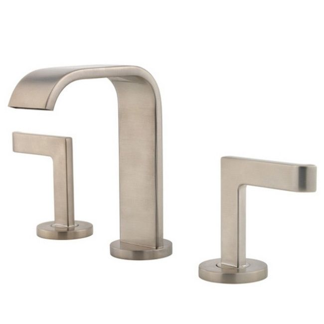 Pfister Skye Lavatory 49 2 Handle With S Bn Brushed Nickel Bathroom Faucet By Price Pfister