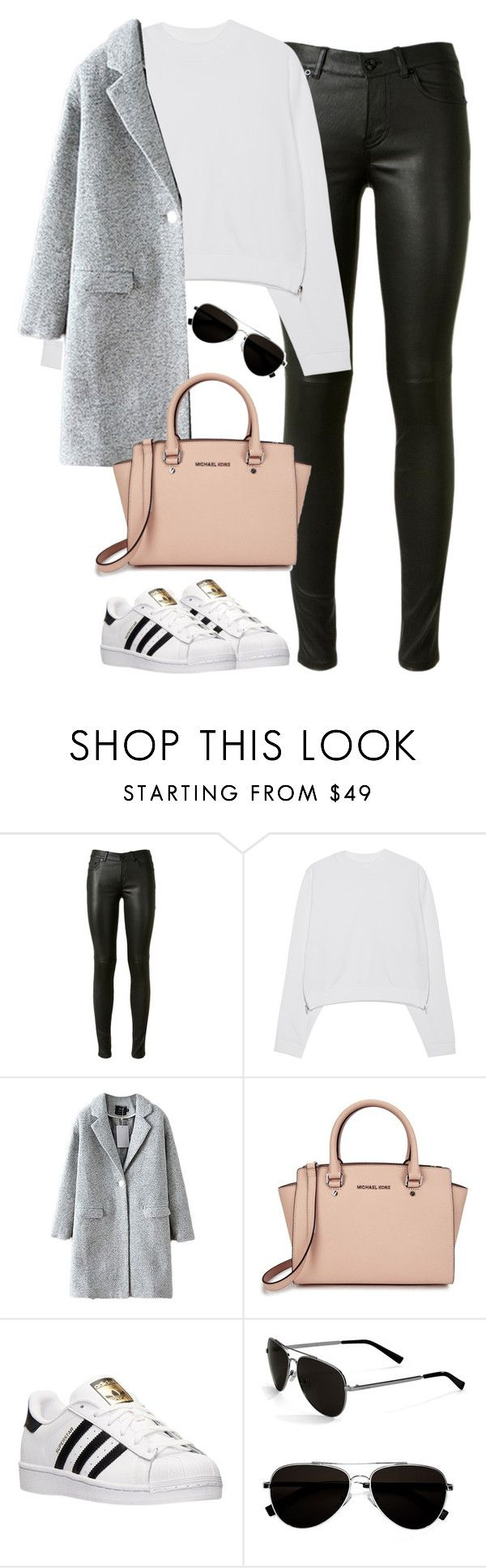 """""""Untitled #459"""" by christyandnef on Polyvore featuring Yves Saint Laurent, Acne Studios, Michael Kors, adidas, Calvin Klein, women's clothing, women, female, woman and misses"""