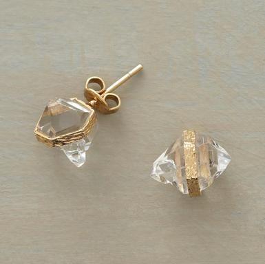 Empire State diamond stud earrings, Pade Vavra