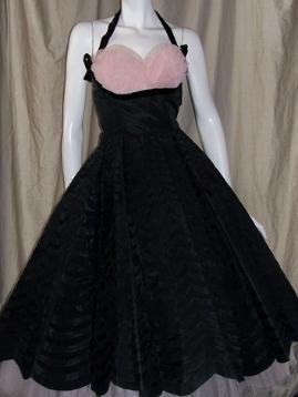 50s party dress black pink Emma Domb