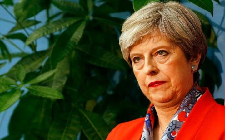 What a difference a day makes. By the time it came to Theresa May's Maidenhead count in the small hours of 9 June 2017, it was already clear her gamble for a big majority had failed. Pic by Alastair Grant for AP Photo.