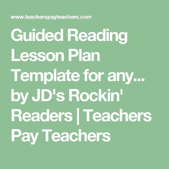 Die besten 25+ Guided reading plan template Ideen auf Pinterest - release plan template