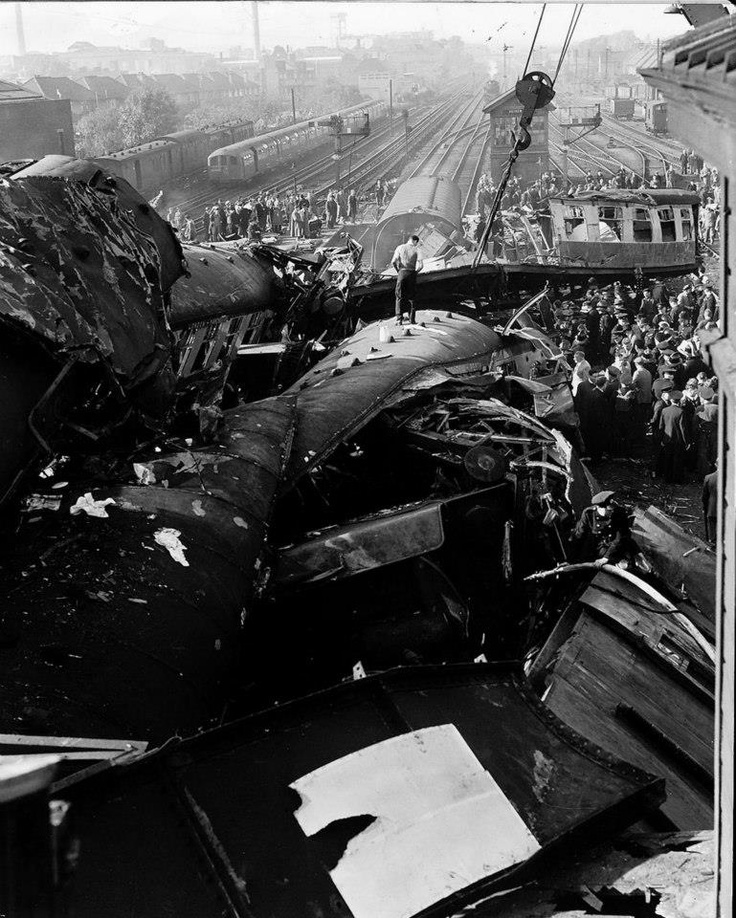 Harrow & Wealdstone train crash 1952 - I live a minute's walk from here. If that. I can see this place from my window.