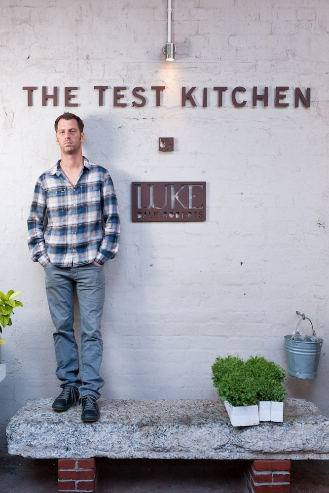 """Luke Dale Roberts is the Chef of the award winning restaurant The Test Kitchen, in November 2012 this restaurant received the """"Best Restaurant of South Africa Eat Out Award""""  The Test Kitchen is located at Shop 105a, The Old Biscuit Mill, 375 Albert Road, Woodstock, Cape Town. To book your table call (27) (21) 447 2337, email reservations@thetestkitchen.co.za"""