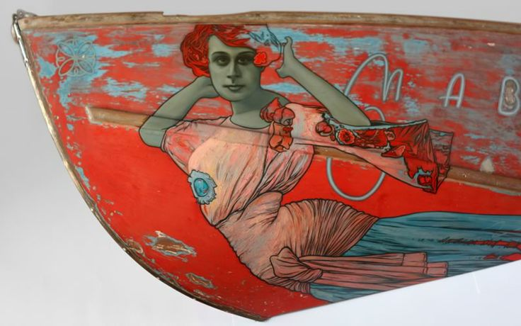 Mabel by David Le Fleming. Oil on wall mounted wooden boat | 1720mm x 860mm | 2012