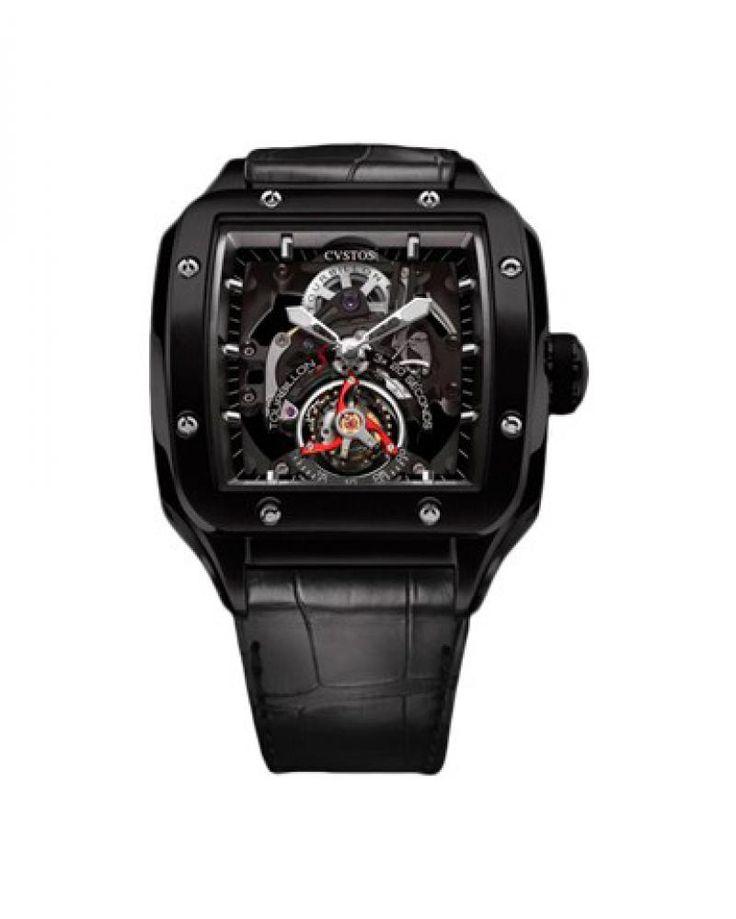 Cvstos Evosquare 50 T-S Tourbillon Sport Titan 5N Full Complications - швейцарские мужские часы наручные, титановые, черные