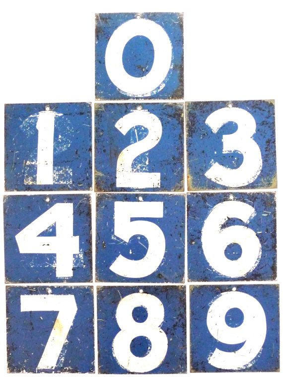 Metal Numbers  0123456789 Zero One Two Three Four Five Six