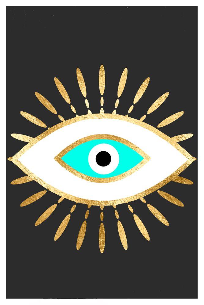Evil Eye Gold Foil Print Framed Art Print By The Best Print Shop Vector Black Medium Gallery 20x26 Evil Eye Art Eye Art Eyes Wallpaper