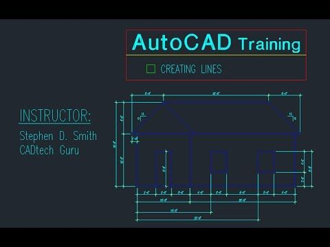 AutoCAD Training Creating Lines | The AutoCAD Line Command in Detail