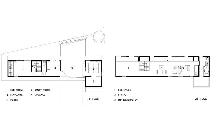 住宅設計 武庫之荘の家の平面図