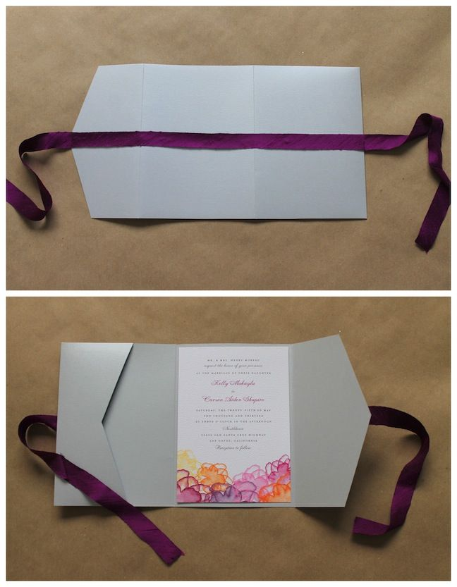 Wedding Paper Divas DIY pocket folds