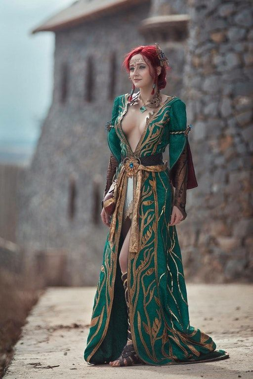 f Wizard Robes urban city castle hilvl Triss by Erika Solovey : witcher