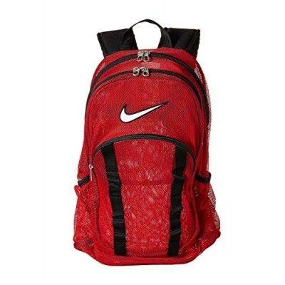 Nike Mesh Brasilia 7 Backpack Bag in Red BA5077-601