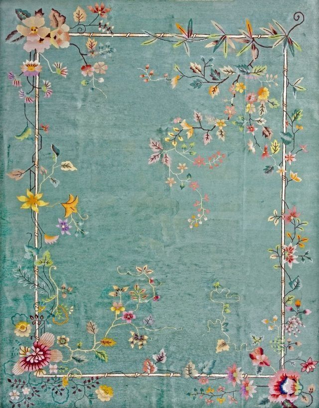 If I had a studio I would as well ma'am. This is fab. The floral isn't contained but it is very thin/barely there! I covet this beautiful vintage rug for my studio. Sigh.