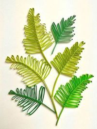 I remember making these sprigs of leaves for the first time after learning how to make them last year from watching YouTube video tuto...