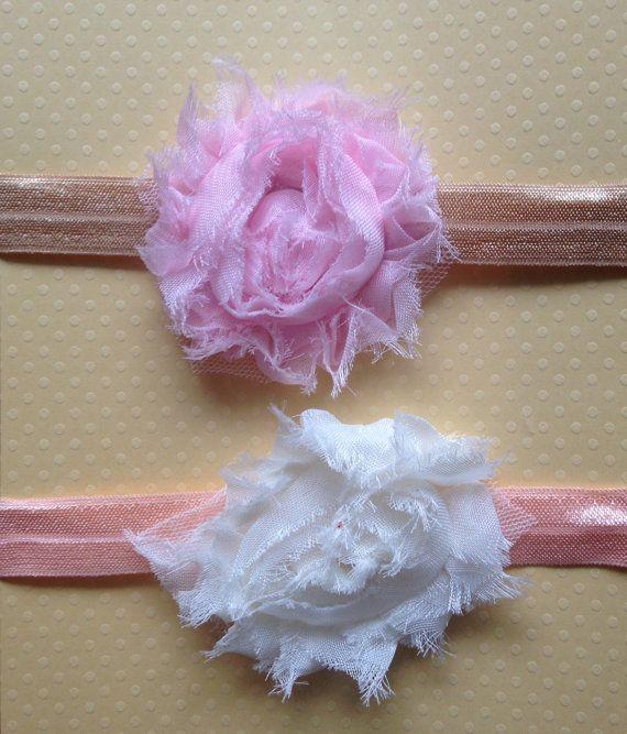 0-6 months Little Miss Romance Headband Set by BooLouBaby on Etsy