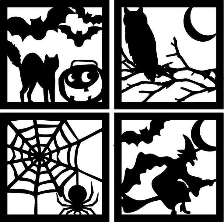 The Lady Wolf: Halloween Square Silhouettes SVG