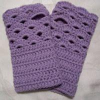 Crochet: Fingerless Gloves.