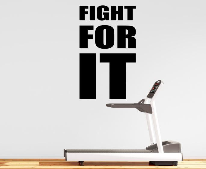 Fitness Motivation Home Gym Wall Decal - Fight For It  sc 1 st  Pinterest & The 19 best Gym Wall Decals images on Pinterest   Fit motivation ...