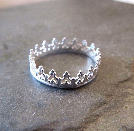 Anello corona di principessa Tiara anello far di laureltreasures