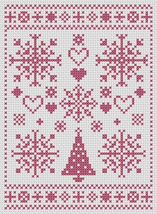 jewelry Christmas cross stitch
