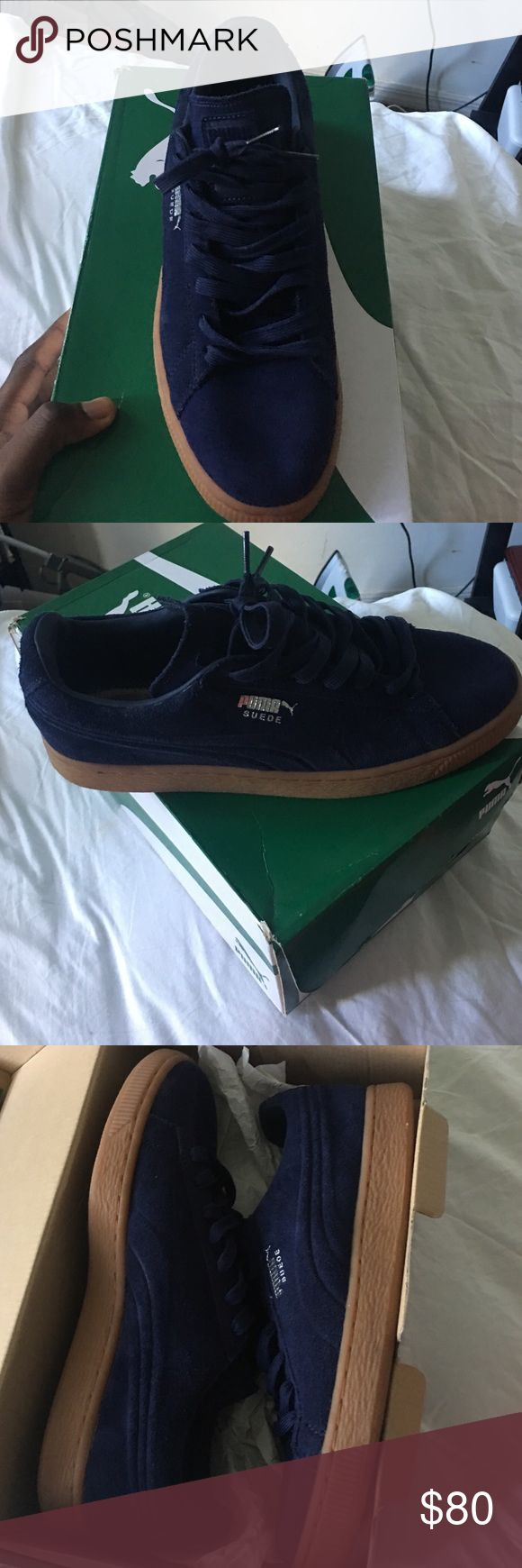 Puma Sued Emboss peacoat-gum Brand new never wear Puma Shoes Sneakers