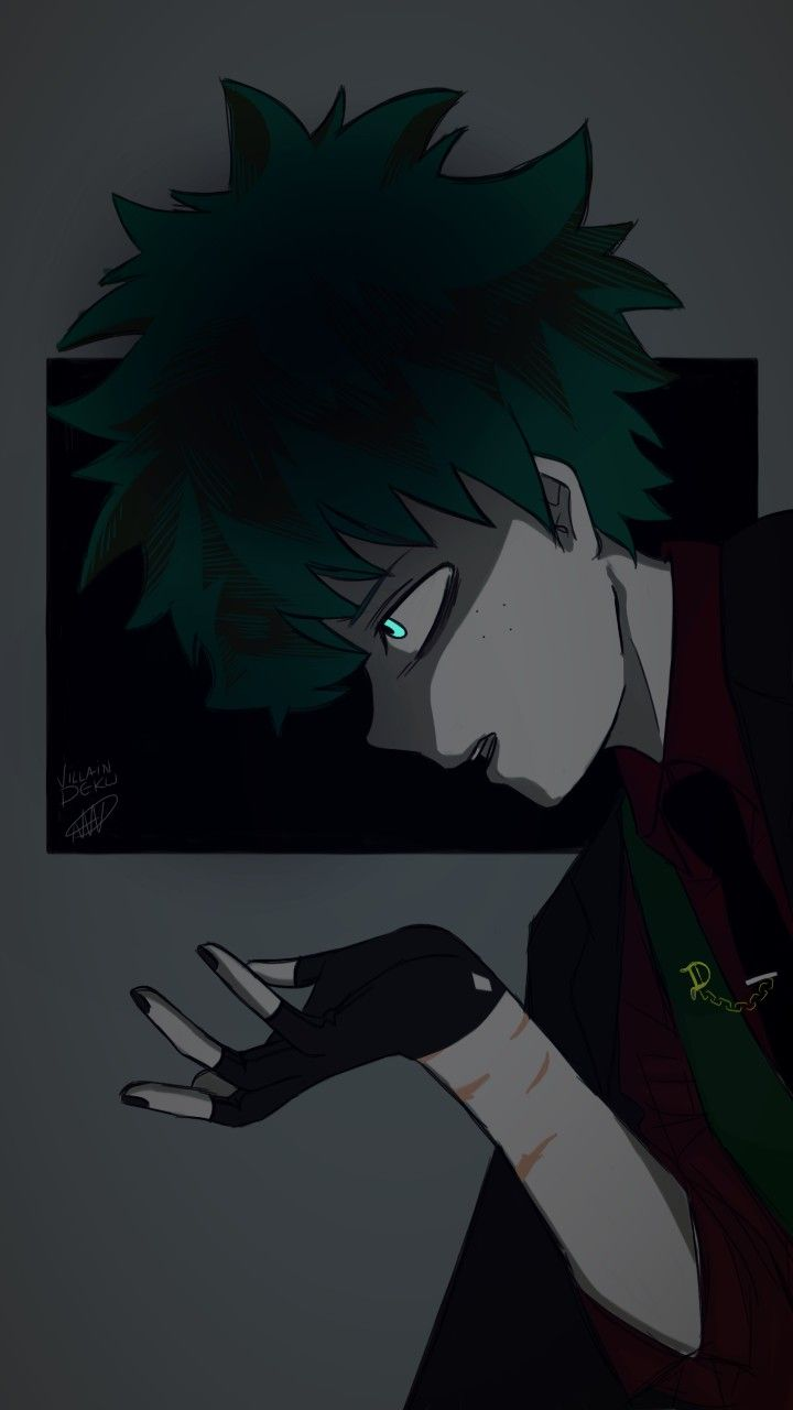 Villain Deku Bnha Villain Deku Anime Villians Hero Wallpaper