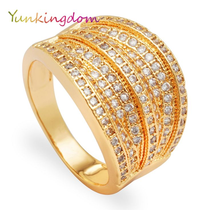New Anniversary Rings for Women Gold Plated Party Rings Fashion Jewelry Christmas Gift