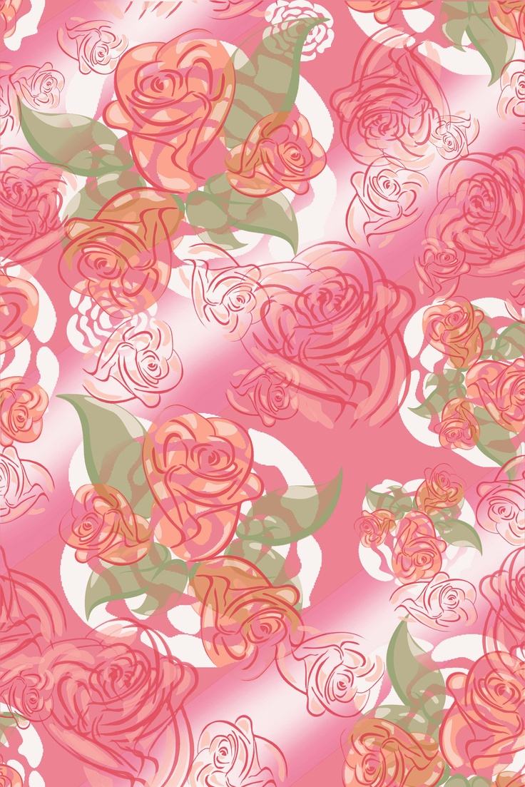 print design on textile